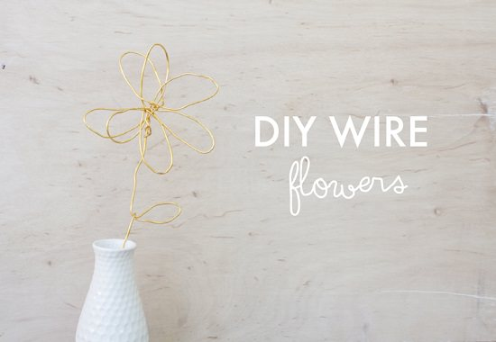 Use your spare time to create DIY Wire Flowers for your home following the steps in this post!