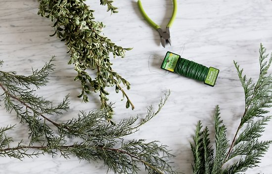 Rosemary Christmas Tree Home Depot.Diy Hanging Evergreen Bouquet Hello Lidy