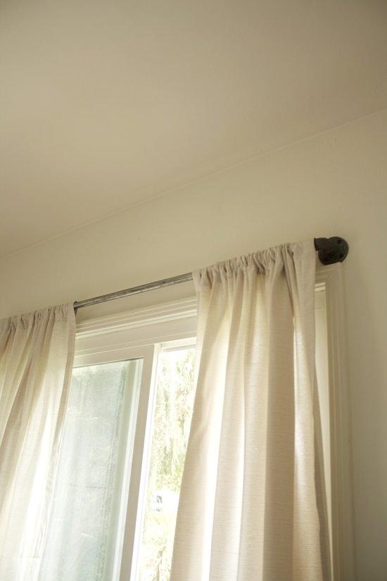 DIY industrial curtain rod 2