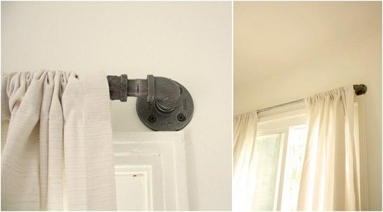 DIY industrial curtain rod 1
