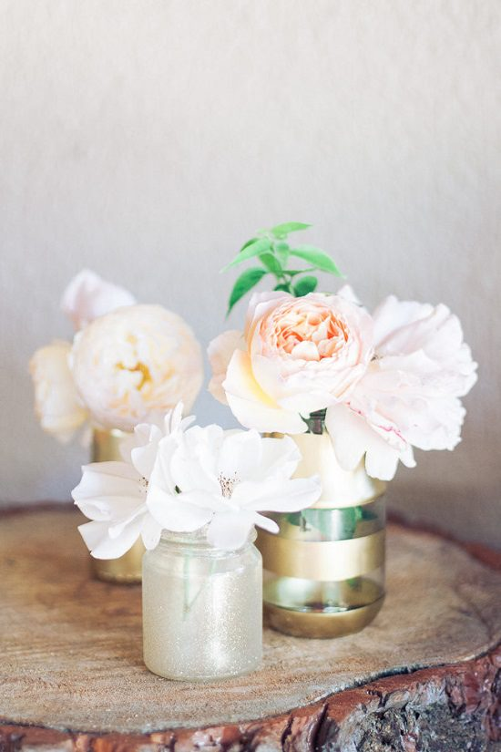 DIY Gold Painted Vases 13