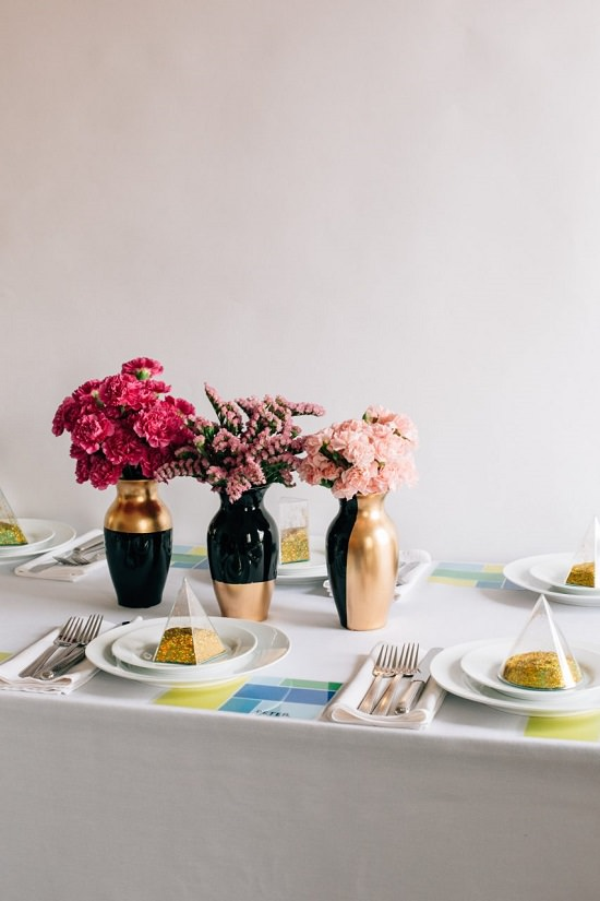 DIY Gold Painted Vases 5