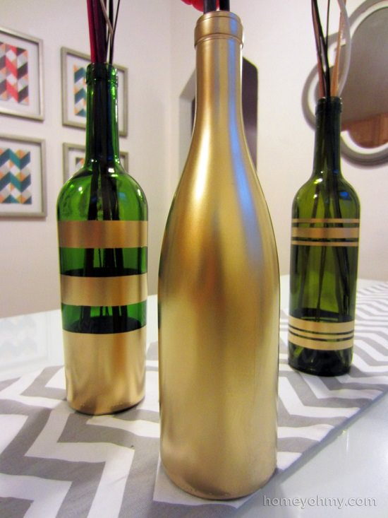 DIY Gold Painted Vases 7