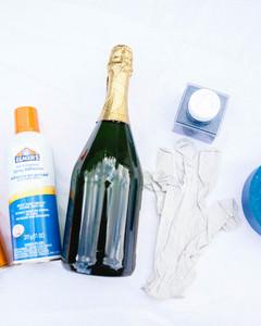 DIY glitter champagne bottle 2