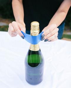 DIY glitter champagne bottle 3