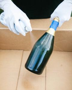 DIY glitter champagne bottle 4