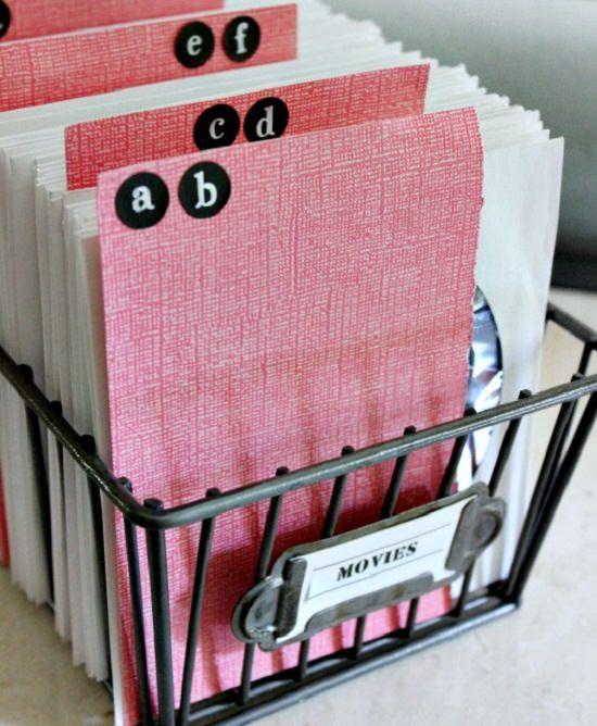 Wire Basket DVDs Organizer