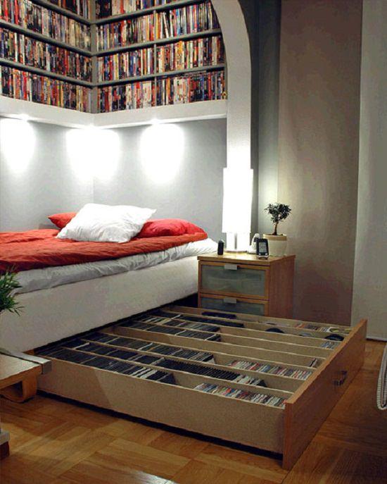 Under The Bed DVDs Organizer