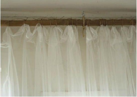 DIY Sisal Rope Curtain Rods