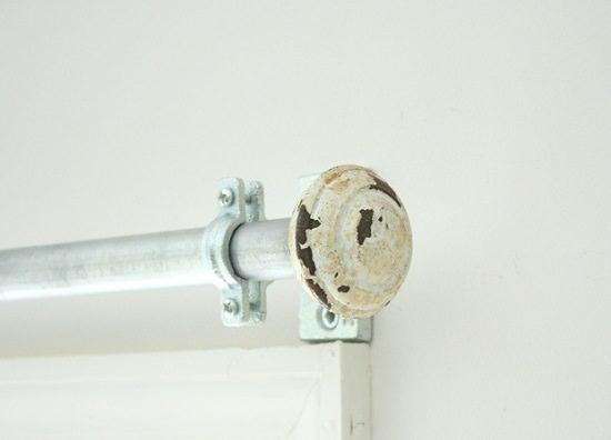 Vintage Door Knob Curtain Rod