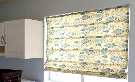 DIY No-sew kitchen curtain