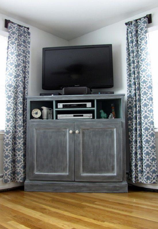 Tall Corner Media Stand