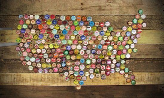 American Bottle Cap Wall Art