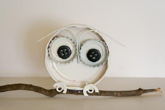 Bottle Cap Owl