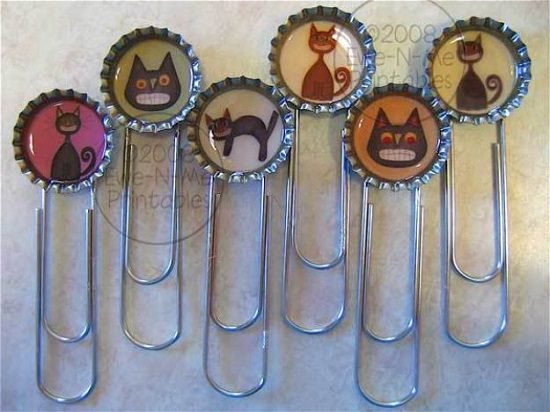 Bottle Cap Bookmarks