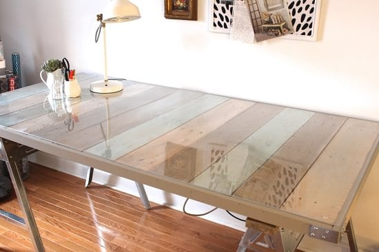 Clear glass top makeover