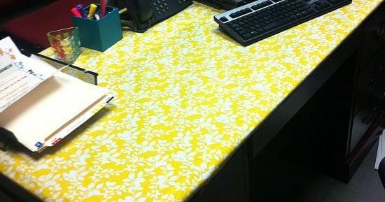 Fabric Laminate Desk Cover