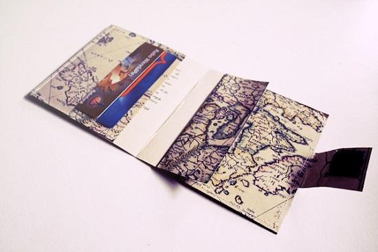 DIY Map Wallet