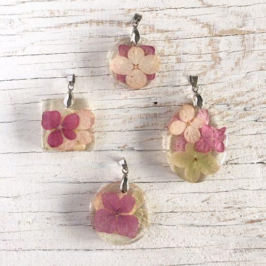 Dried Hydrangea Flowers Jewelry