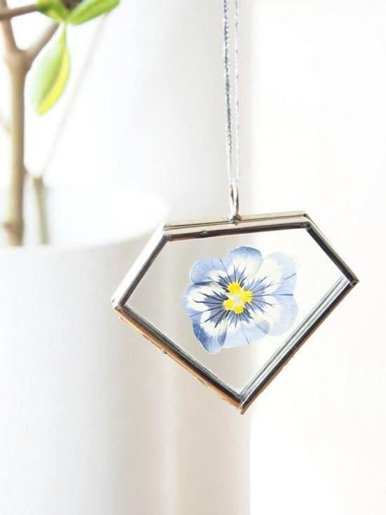 Summer Dried Flower Pendant Jewelry