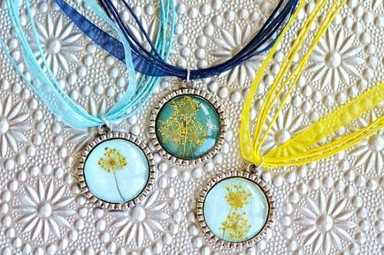Queen Anne's Lace Dried Flower Jewelry