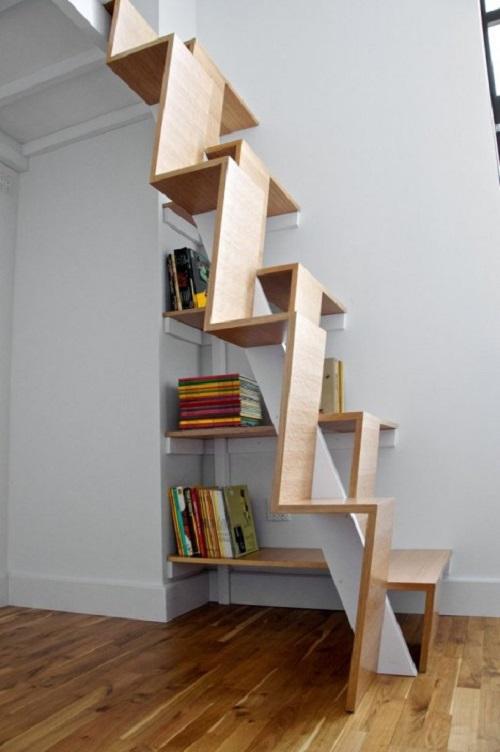 Modern Alternating-Tread Staircase