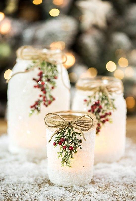 DIY Snowy Mason Jars1