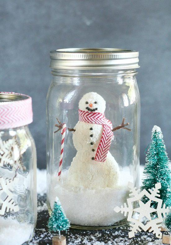 DIY Snowy Mason Jars4