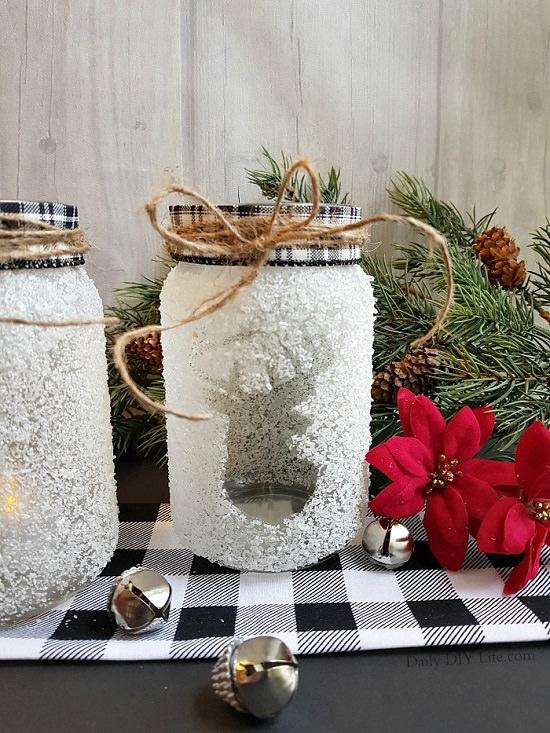 Reindeer Print Holiday Jar