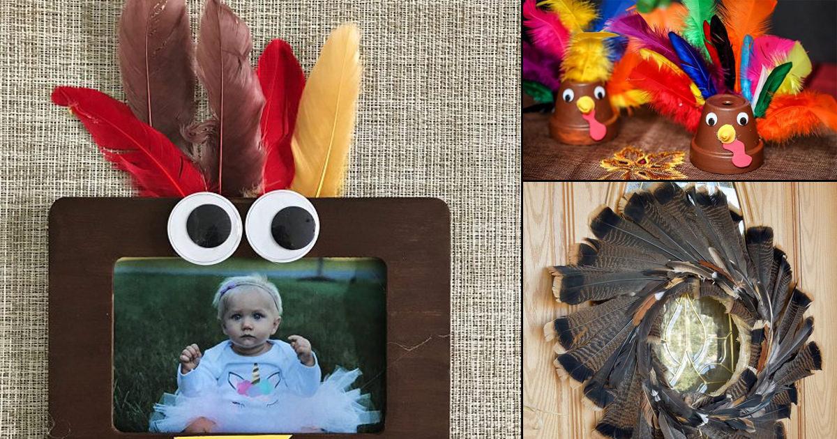 10 Easy and Fun DIY Turkey Feather Decoration Ideas ...