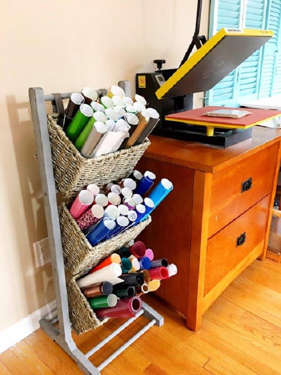 DIY Craft Vinyl Storage Ideas5