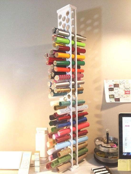 Wooden Tower Storage Idea