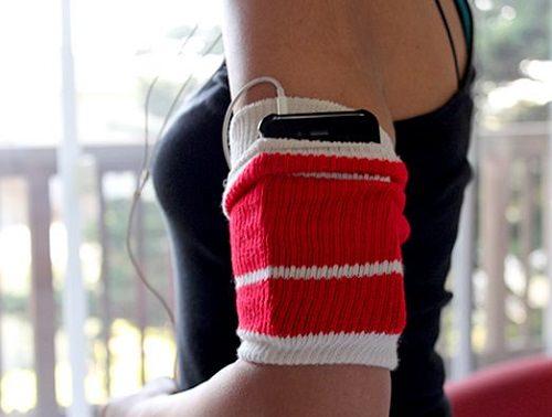 DIY Sock Workout Armband