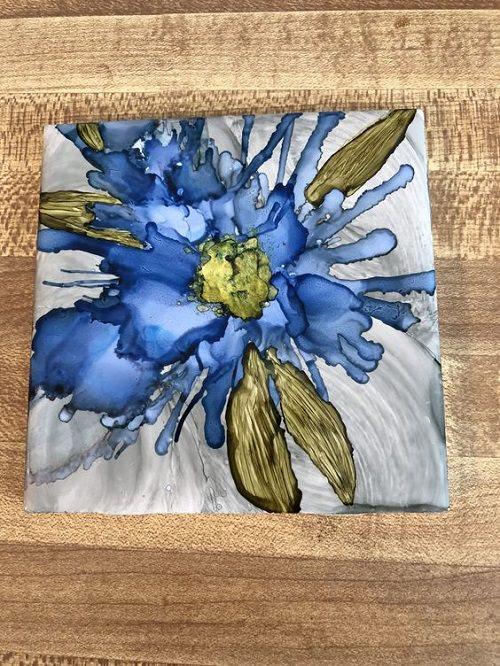 Decorative Alcohol Ink Art Tiles