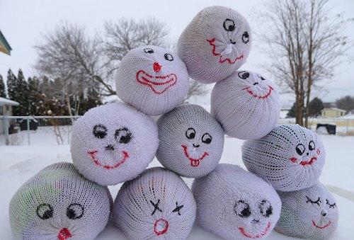 Handmade Indoor Snowballs