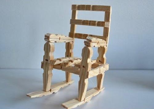 Mini Clothespin Rocking Chair