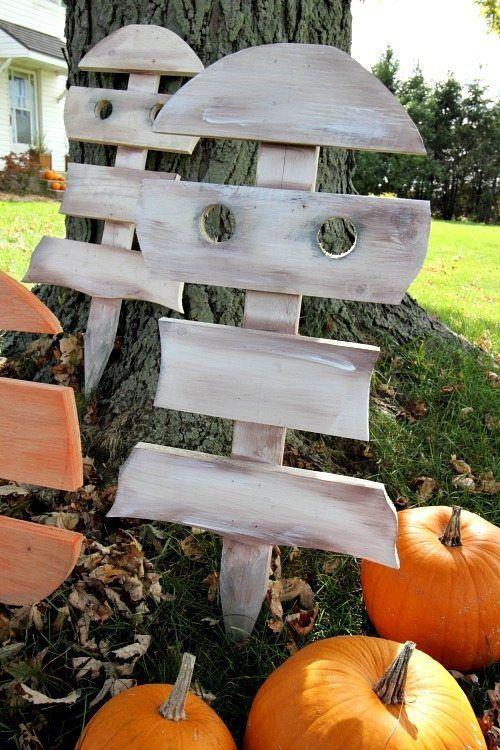 DIY Scrap Wood Ghosts Decorations