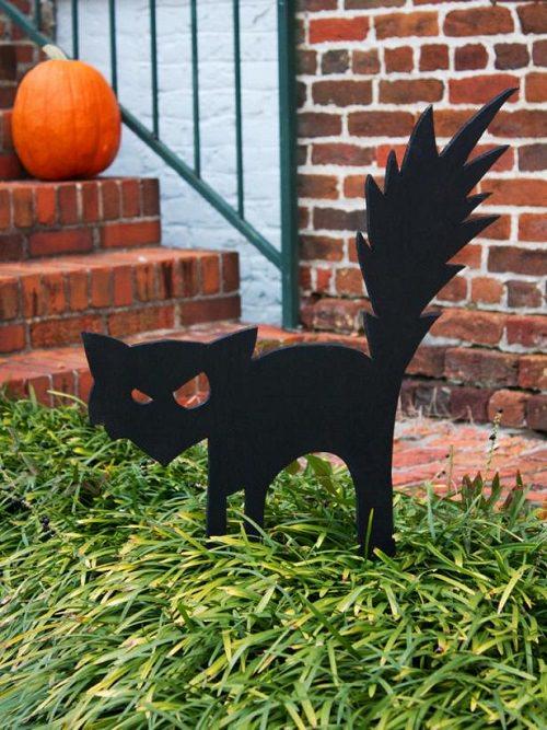 Black Cat Outdoor Halloween Decoration