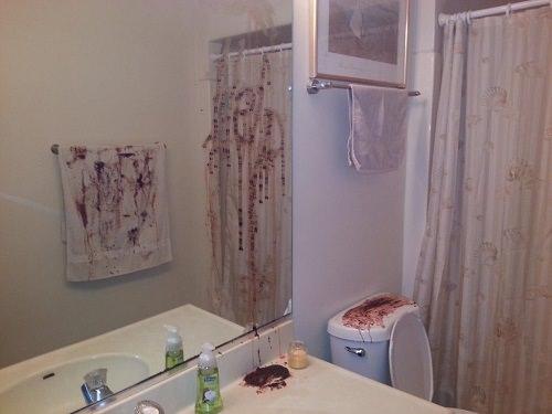 Bloody Horror Scene