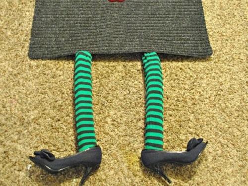 DIY Boo Witch Doormat