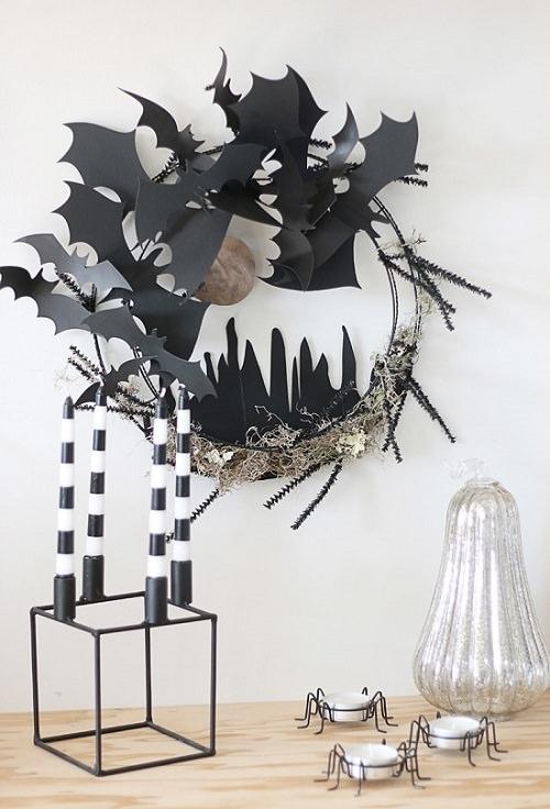 DIY Halloween Wreath Diorama