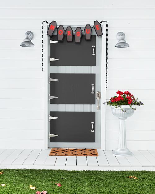 DIY Morgue Door Decorations