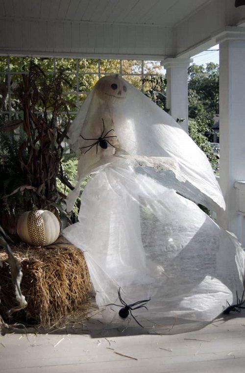 Ghost Bride Porch Decor