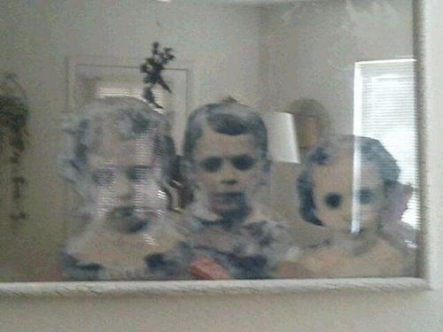 Ghost Mirror Sticker