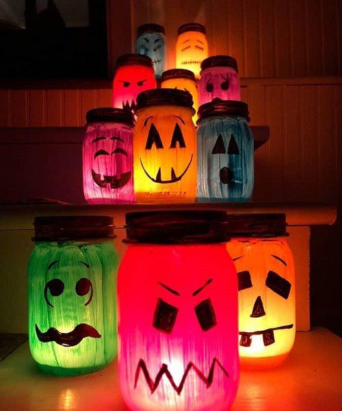 Ghoulish Glowing Glass Luminaries