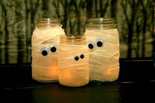 Google-eyed Mummy Jar Luminaries