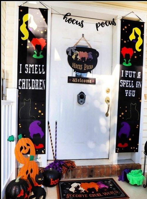 Hocus Pocus Halloween Front Porch Decor