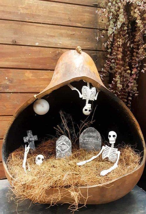 Miniature Fairy Graveyard with Moon