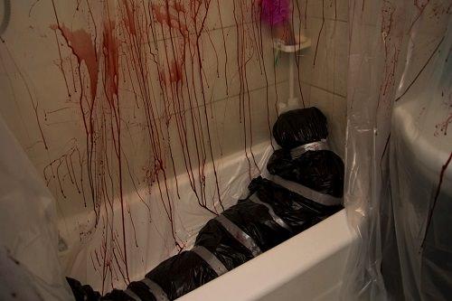Murder Scene Halloween Decor