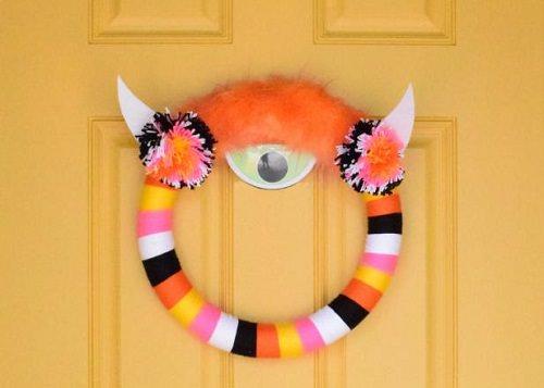 Punchy Cyclops Wreath